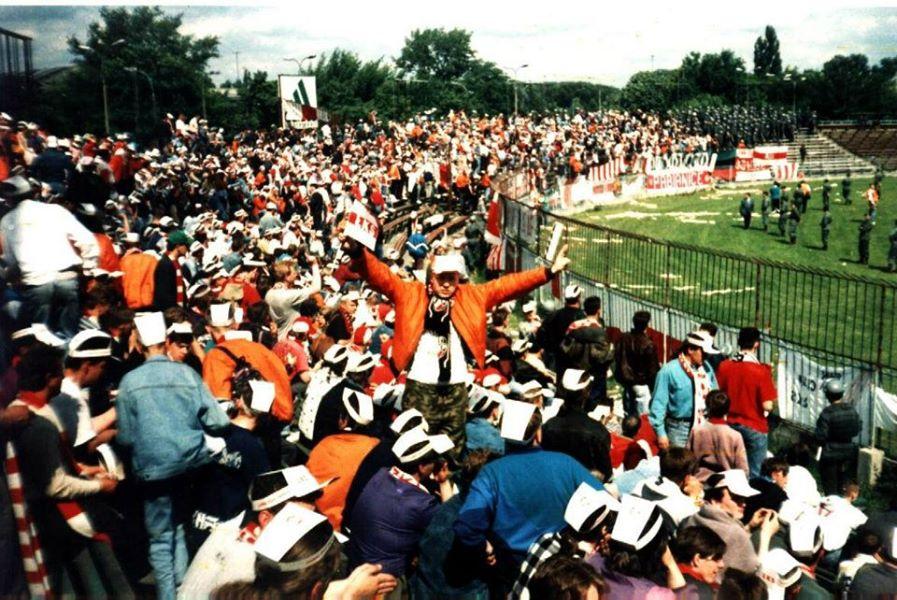 Autor na Finale Pucharu Polski w Warszawie, 18 czerwca 1994 roku